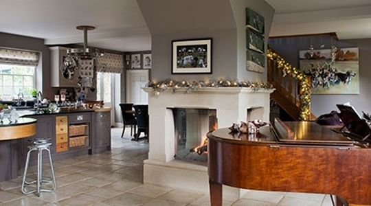 Grand piano in the kitchen